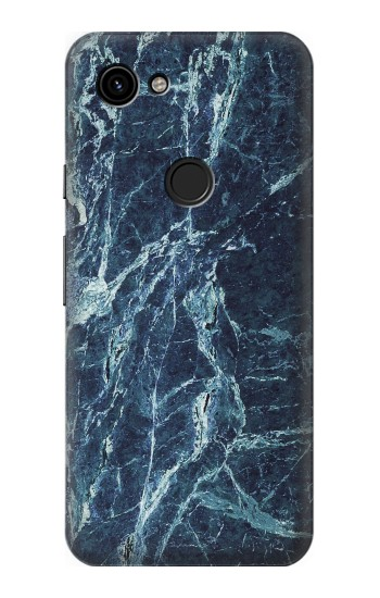Printed Light Blue Marble Stone Texture Printed Google Pixel 3a Case
