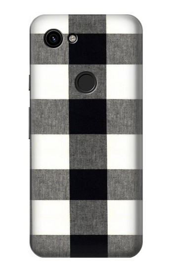Printed Black and White Buffalo Check Pattern Google Pixel 3a Case