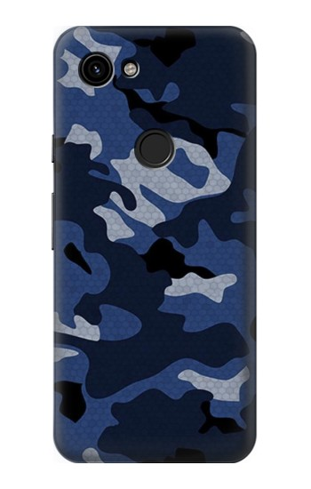 Printed Navy Blue Camouflage Google Pixel 3a Case