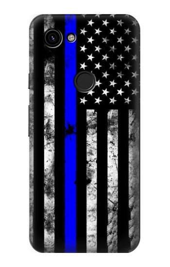 Printed Thin Blue Line USA Google Pixel 3a Case