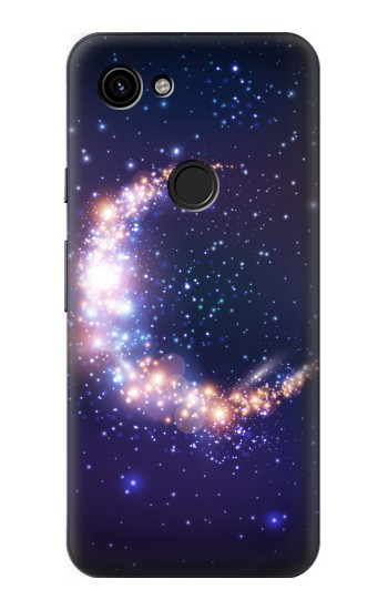 Printed Crescent Moon Galaxy Google Pixel 3a Case