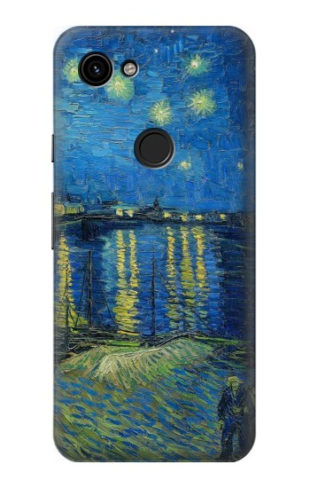Printed Van Gogh Starry Night Over Rhone Google Pixel 3a Case