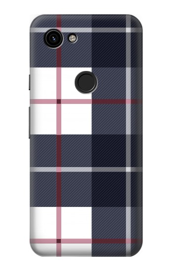Printed Plaid Fabric Pattern Google Pixel 3a Case