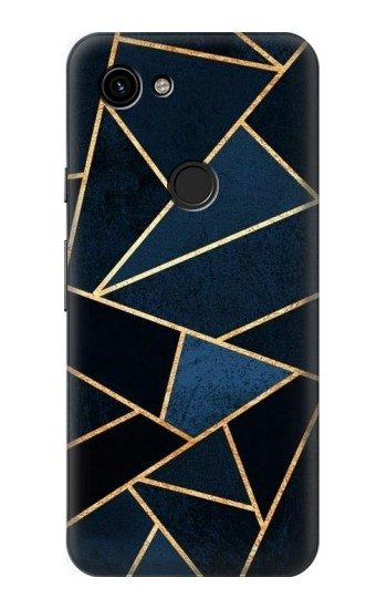 Printed Navy Blue Graphic Art Google Pixel 3a Case