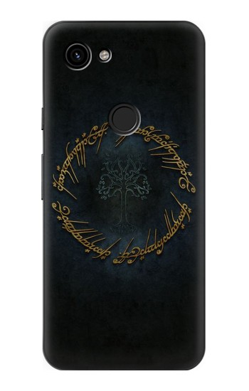 Printed Lord of The Rings Ring Elf Writing Google Pixel 3a Case