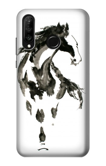 Printed Horse Paintbrush Huawei P30 lite Case