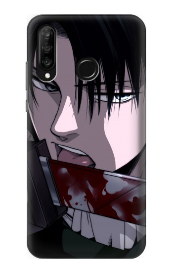 Printed Attack on Titan Rivaille Levi Huawei P30 lite Case