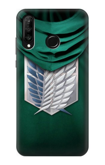 Printed Attack on Titan Scouting Legion Rivaille Green Cloak Huawei P30 lite Case