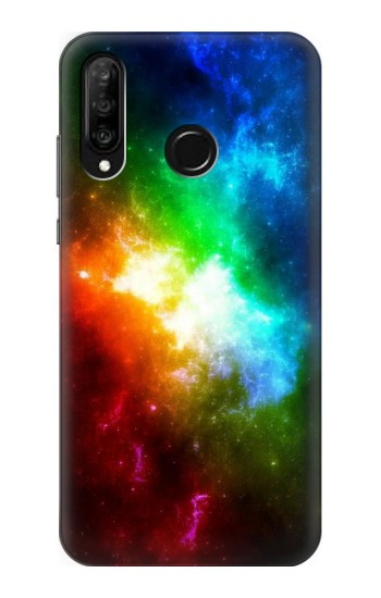 Printed Colorful Rainbow Space Galaxy Huawei P30 lite Case