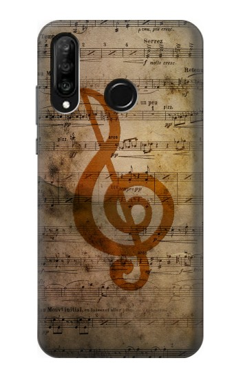 Printed Sheet Music Notes Huawei P30 lite Case