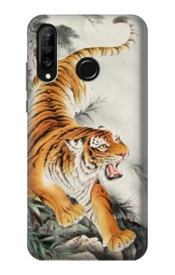 Printed Chinese Tiger Tattoo Painting Huawei P30 lite Case