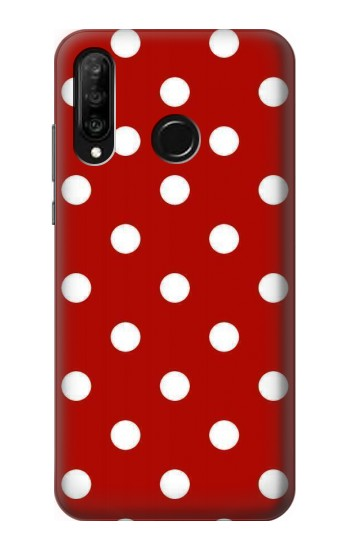 Printed Red Polka Dots Huawei P30 lite Case