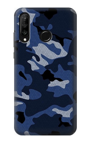 Printed Navy Blue Camouflage Huawei P30 lite Case