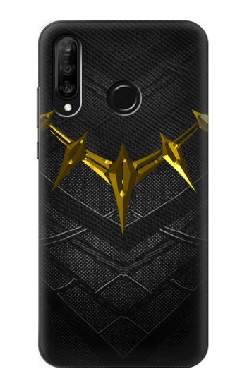 Printed Black Panther Inspired Costume Gold Necklace Huawei P30 lite Case