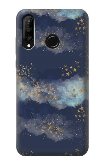 Printed Gold Star Sky Huawei P30 lite Case