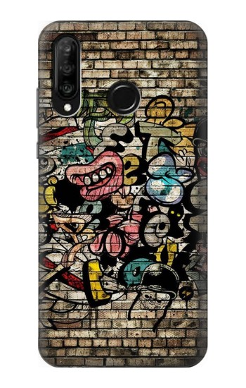 Printed Graffiti Wall Huawei P30 lite Case