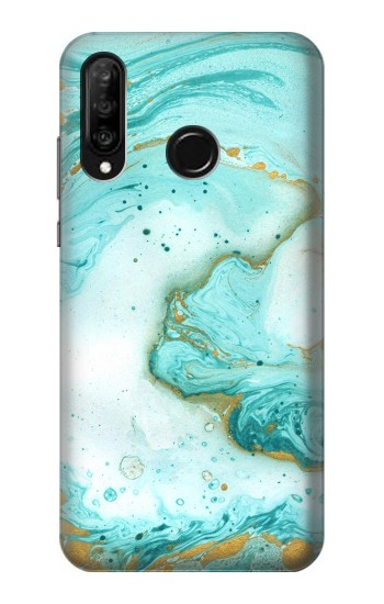 Printed Green Marble Graphic Print Huawei P30 lite Case
