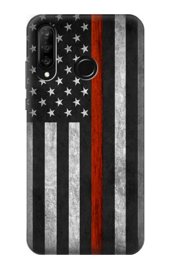 Printed Firefighter Thin Red Line Flag Huawei P30 lite Case