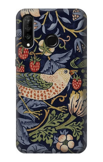 Printed William Morris Strawberry Thief Fabric Huawei P30 lite Case