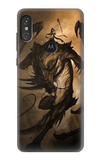 Printed Dragon Rider Motorola One Power (P30 Note) Case