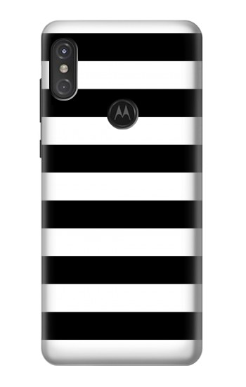 Printed Black and White Striped Motorola One Power (P30 Note) Case