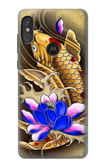 Printed Carp Koi Fish Japanese Tattoo Motorola One Power (P30 Note) Case