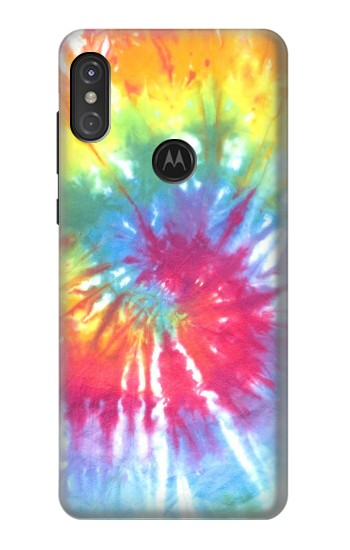 Printed Tie Dye Colorful Graphic Printed Motorola One Power (P30 Note) Case