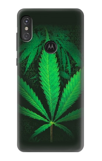 Printed Marijuana Plant Motorola One Power (P30 Note) Case