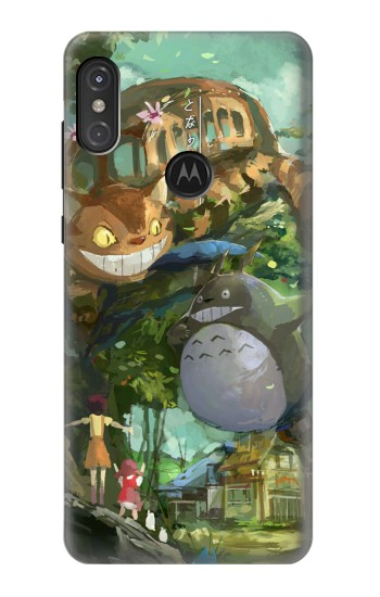 Printed My Neighbor Totoro Cat Bus Motorola One Power (P30 Note) Case