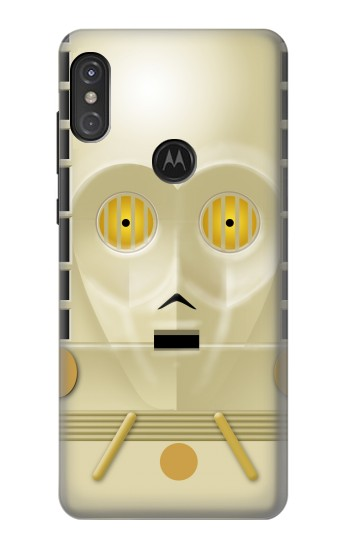 Printed C-3PO See-Threepio Head Star Wars Minimalist Motorola One Power (P30 Note) Case