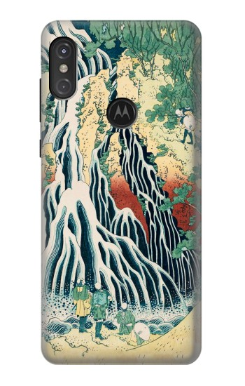 Printed Kirifuri Waterfall at Kurokami Mountain in Shimotsuke Motorola One Power (P30 Note) Case