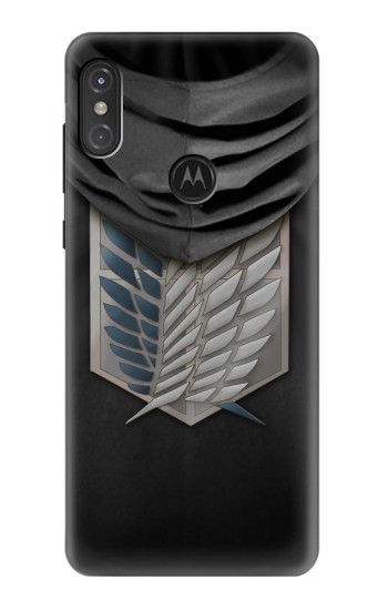 Printed Attack on Titan Scouting Legion Rivaille Black Cloak Motorola One Power (P30 Note) Case