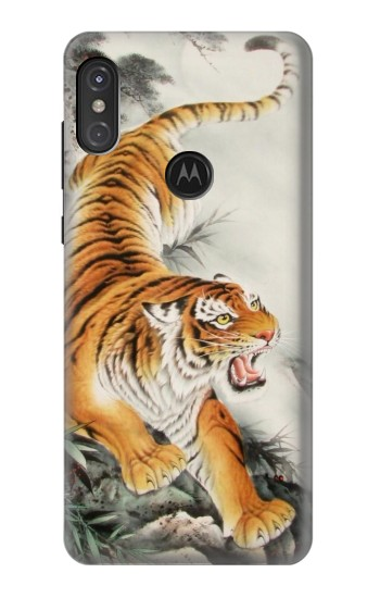 Printed Chinese Tiger Tattoo Painting Motorola One Power (P30 Note) Case