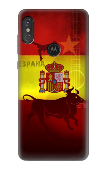 Printed Spain Football Flag Motorola One Power (P30 Note) Case