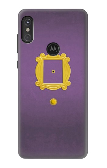 Printed Friends Purple Door Minimalist Motorola One Power (P30 Note) Case