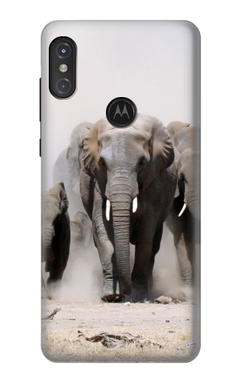Printed African Elephant Motorola One Power (P30 Note) Case