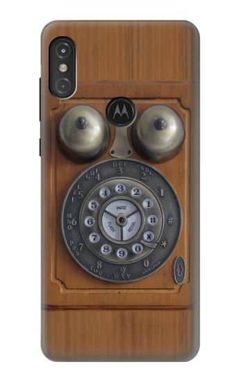 Printed Antique Wall Phone Motorola One Power (P30 Note) Case