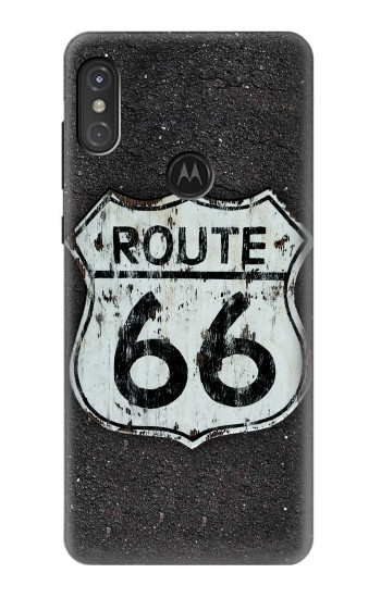 Printed Route 66 Sign Motorola One Power (P30 Note) Case