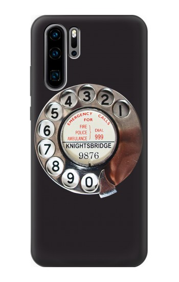 Printed Retro Rotary Phone Dial On Huawei P30 Pro Case