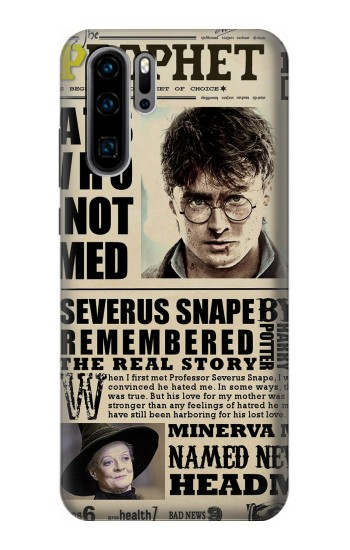Printed Harry Potter Daily Prophet Huawei P30 Pro Case