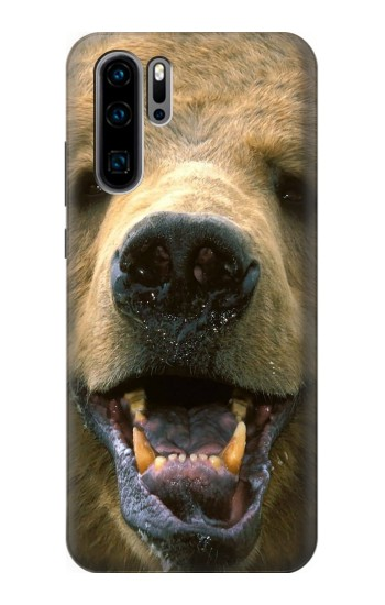 Printed Grizzly Bear Face Huawei P30 Pro Case