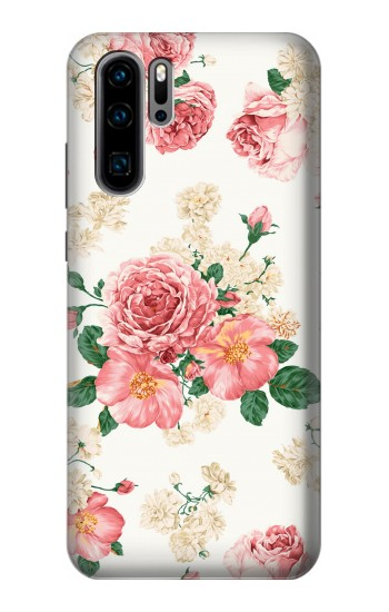 Printed Rose Pattern Huawei P30 Pro Case