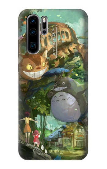 Printed My Neighbor Totoro Cat Bus Huawei P30 Pro Case