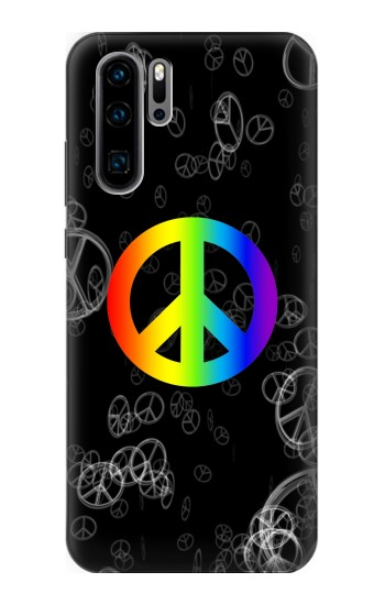 Printed Peace Sign Huawei P30 Pro Case