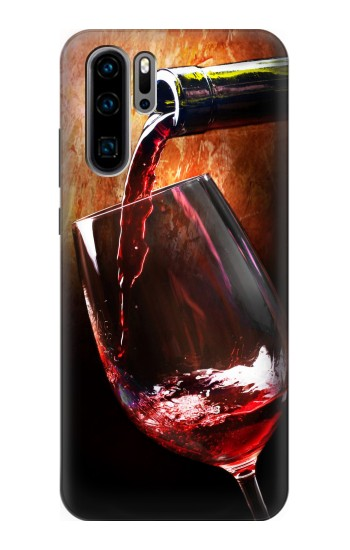 Printed Red Wine Bottle And Glass Huawei P30 Pro Case