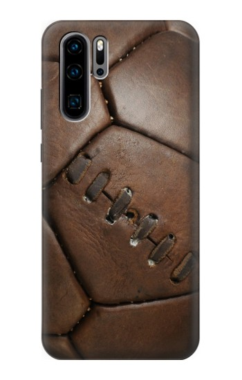 Printed Vintage Genuine Leather Soccer Football Huawei P30 Pro Case