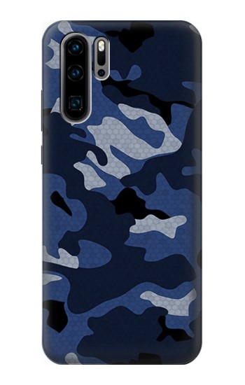 Printed Navy Blue Camouflage Huawei P30 Pro Case