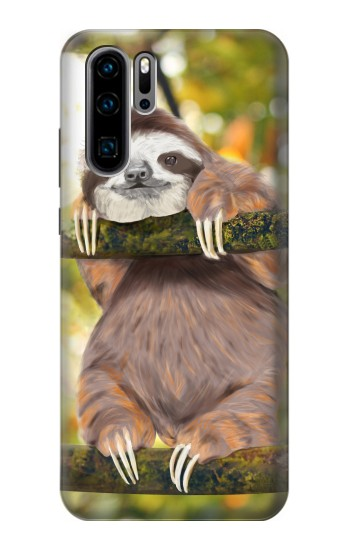 Printed Cute Baby Sloth Paint Huawei P30 Pro Case
