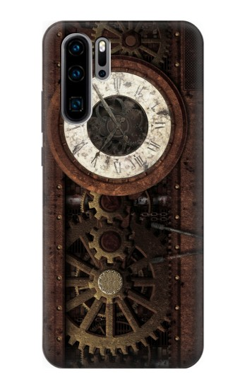Printed Steampunk Clock Gears Huawei P30 Pro Case