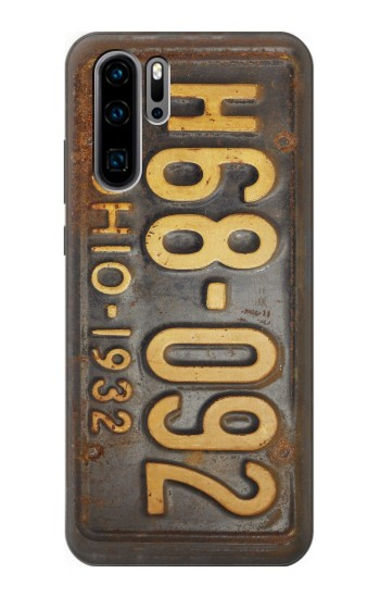 Printed Vintage Car License Plate Huawei P30 Pro Case